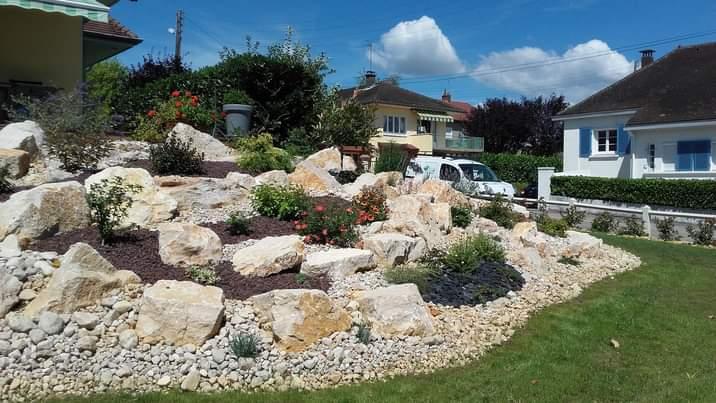 Aménagement rocailles